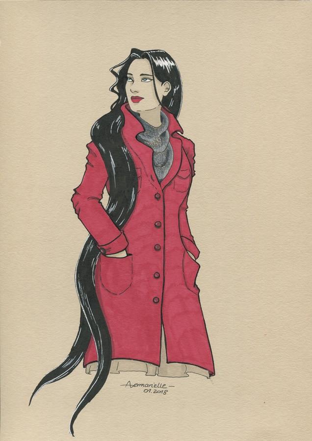 Ginie - dessin original par Aemarielle