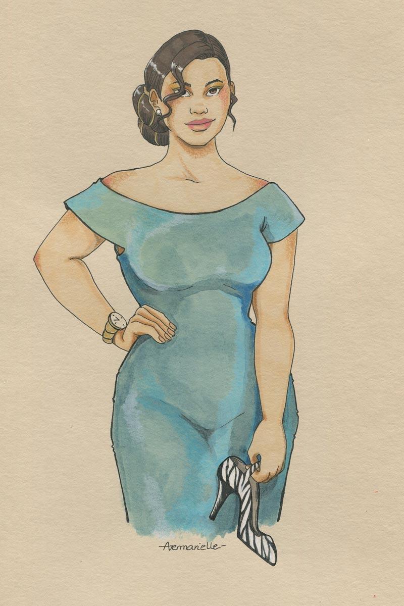 Cassandra - dessin original par Aemarielle