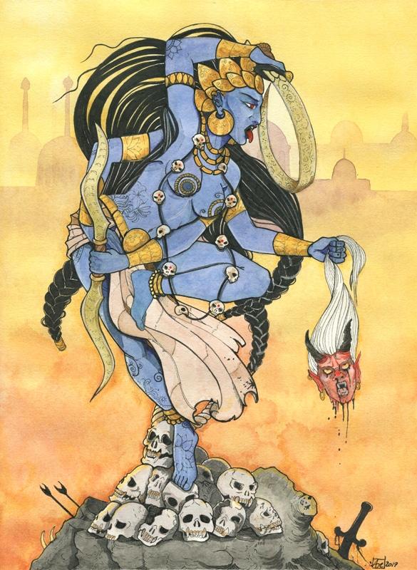 Kali aquarelle originale Aemarielle