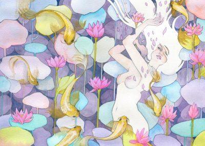 L'étang des lotus - Aemarielle
