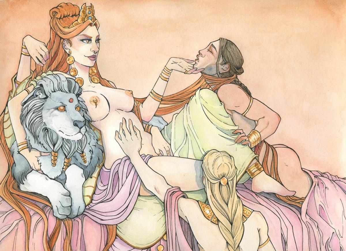 Ishtar -aquarelle originale par Aemarielle