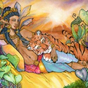La Maharani - Aquarelle - Aemarielle