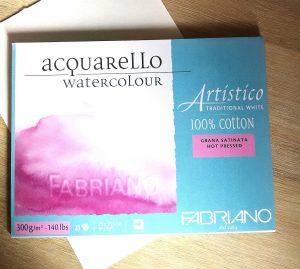 Matériel d'art : papier aquarelle Fabriano