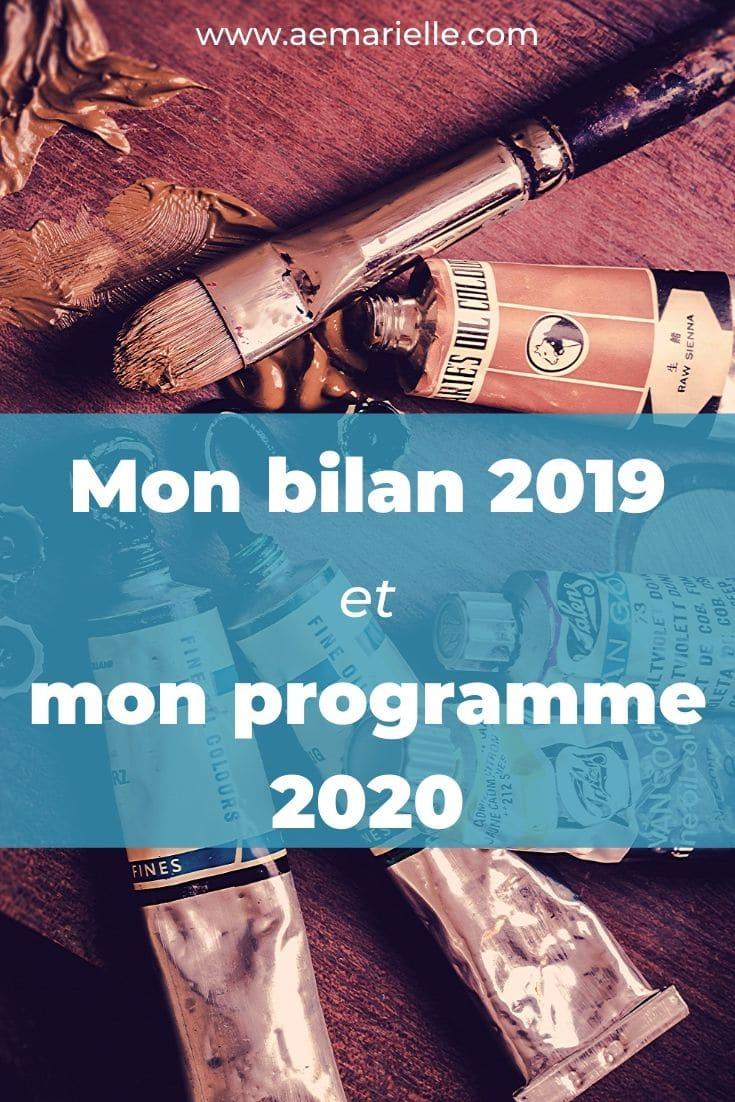 mon bilan 2019 et mon programme 2020 - Aemarielle