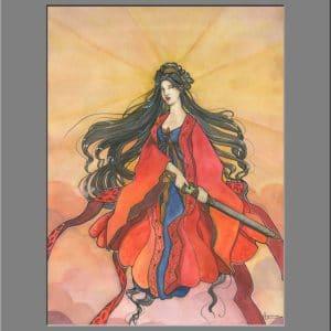 Amaterasu - déesse solaire - tirage d'art