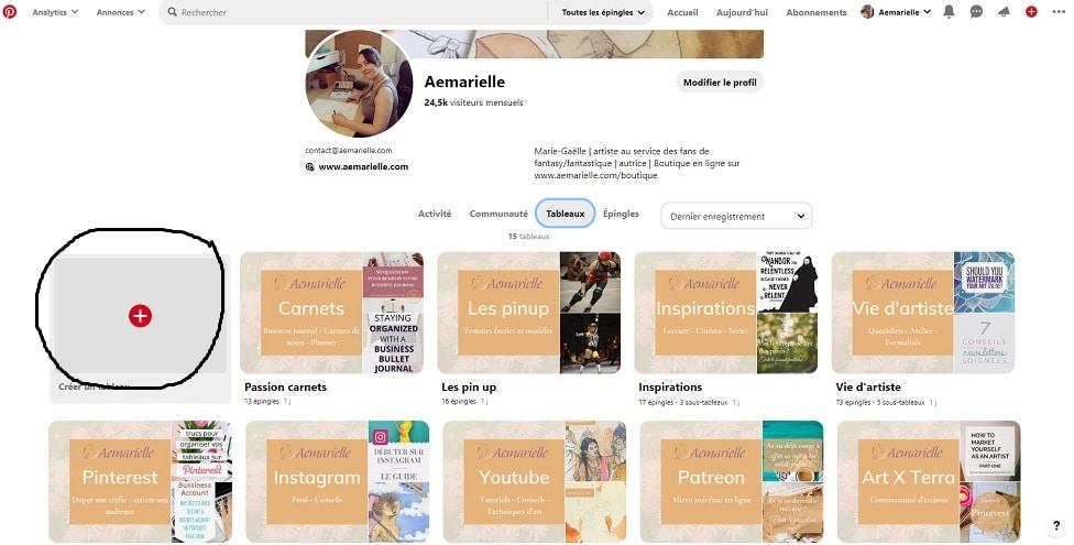 Comment utiliser Pinterest - créer un tableau