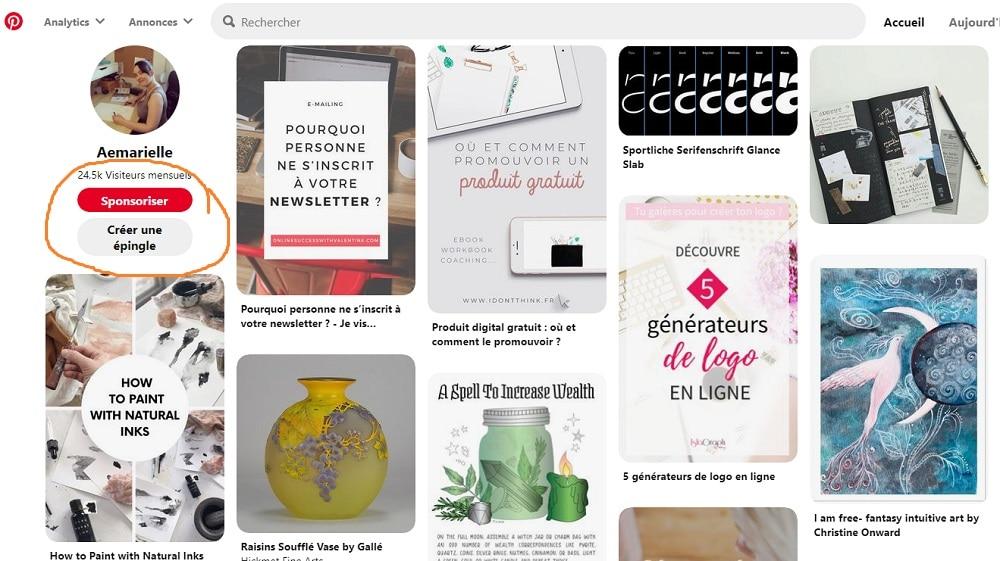 Comment utiliser Pinterest- créer une épingle