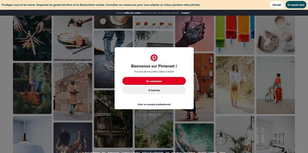 Comment utiliser Pinterest - se connecter