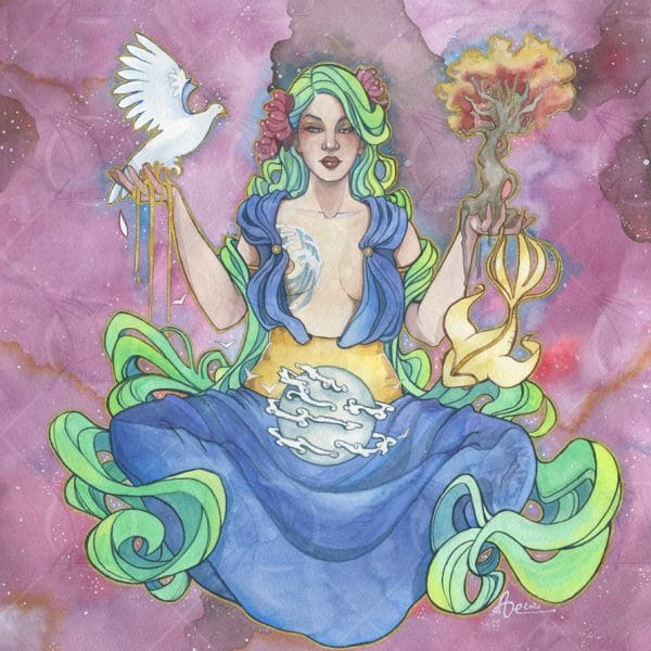 Gaia- TIrage d'art en édition limitée A3