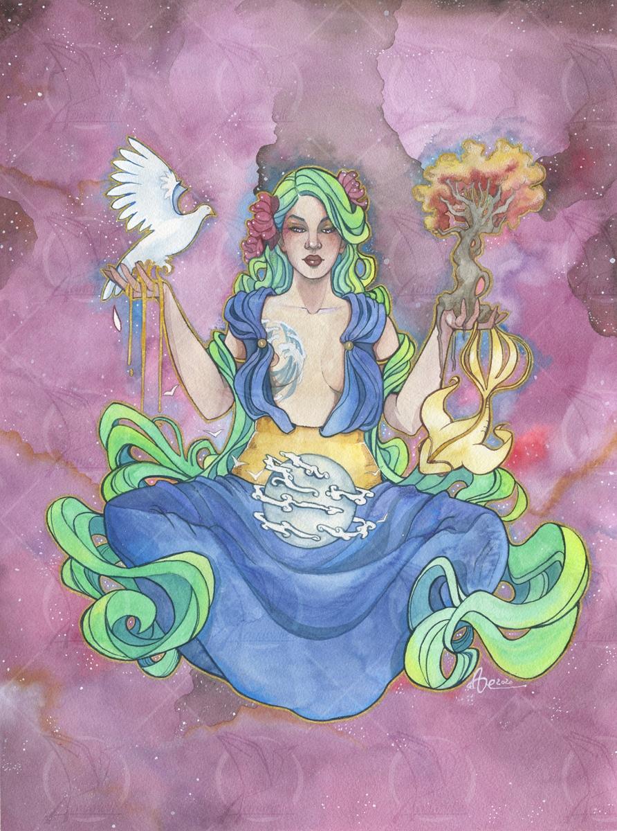 Gaia- TIrage d'art en édition limitée A3 - projet artbook