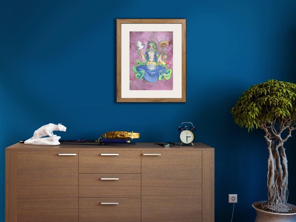 Encadrer une aquarelle - Gaia encadrée - Aemarielle