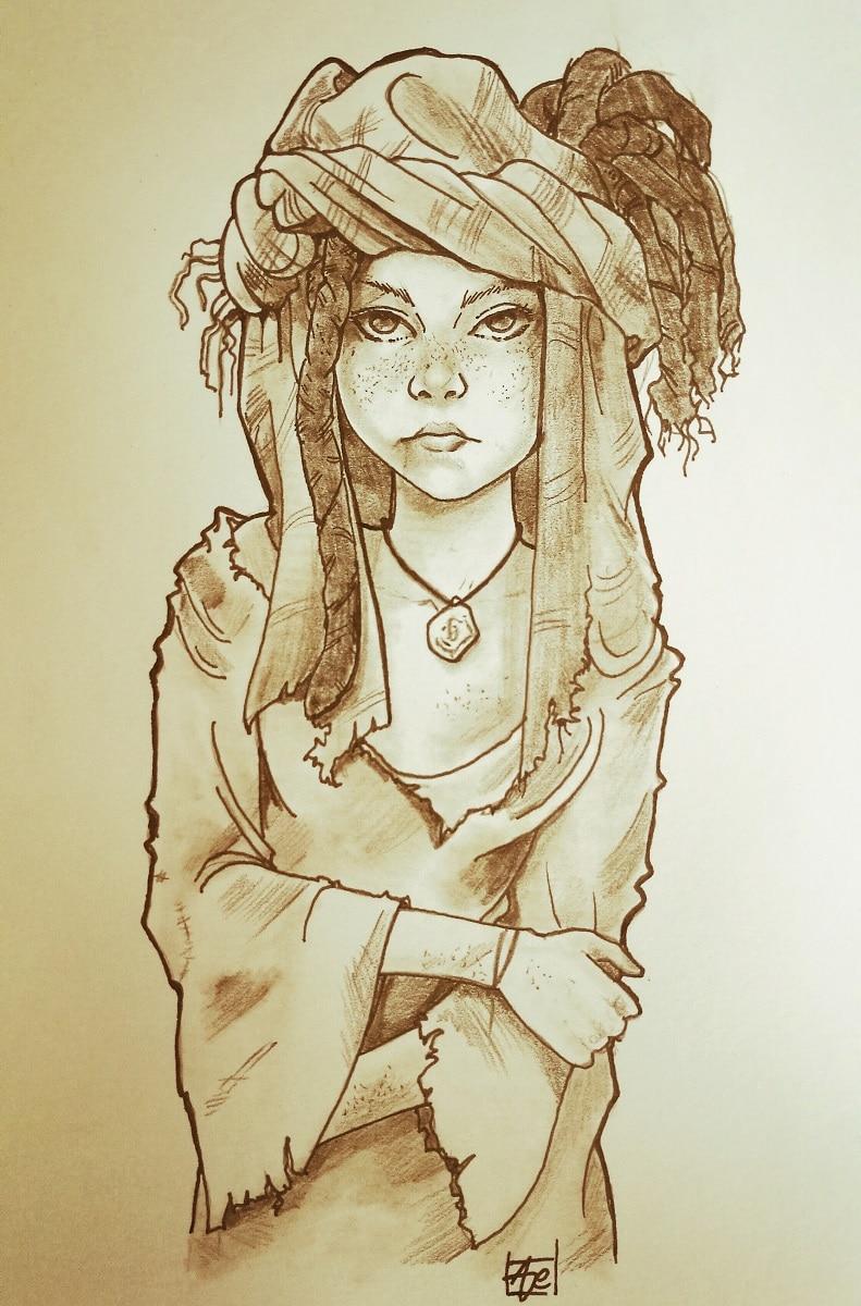 Portrait Alaia - série héroic fantasy - le cycle du dieu noir