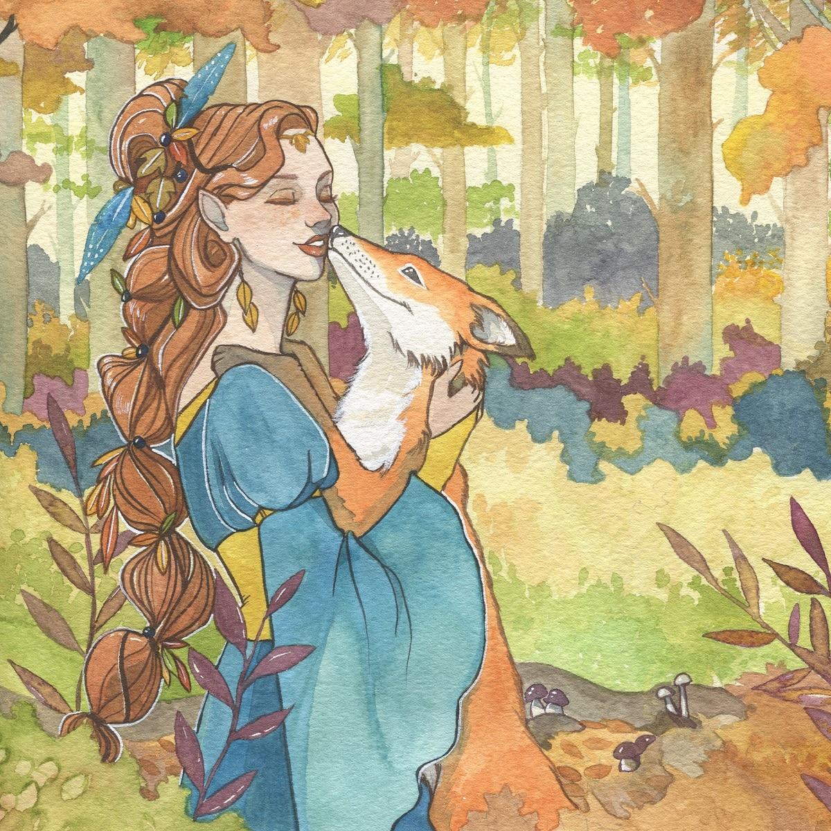 Projet 4 saisons - automne - aquarelle -aemarielle