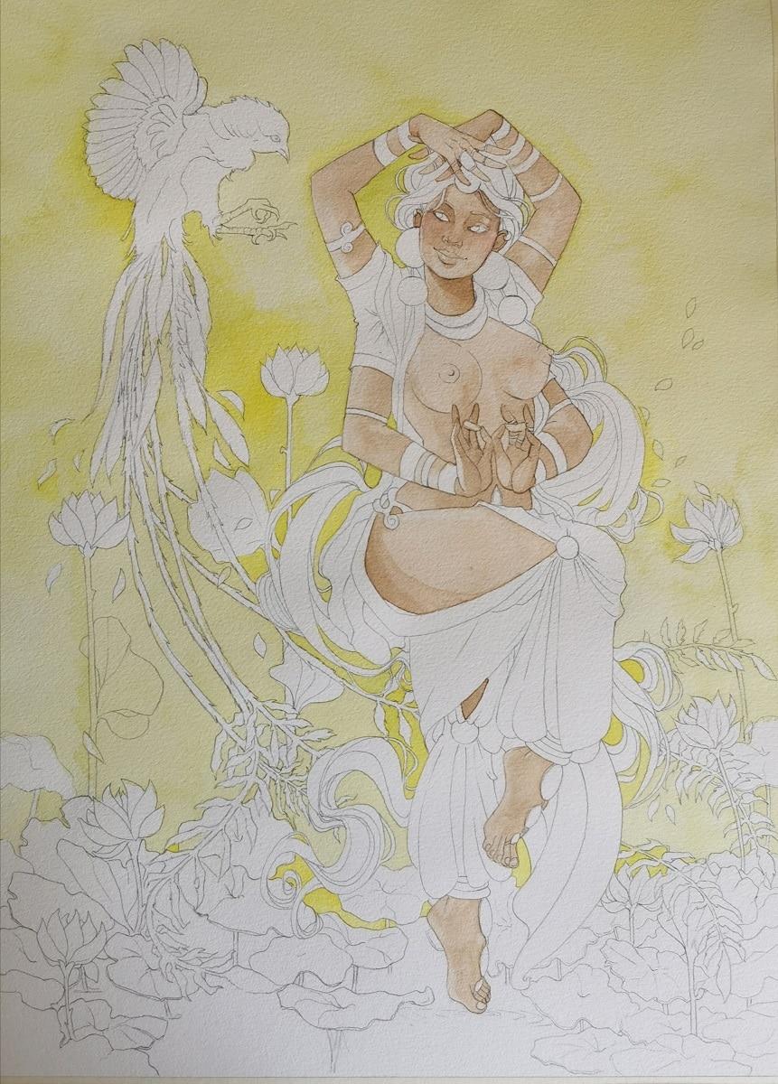 Danse divine - peinture peau 1