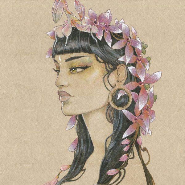La reine-mante-dessin-original