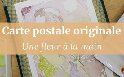 Carte postale originale Patreon | Une fleur à la main