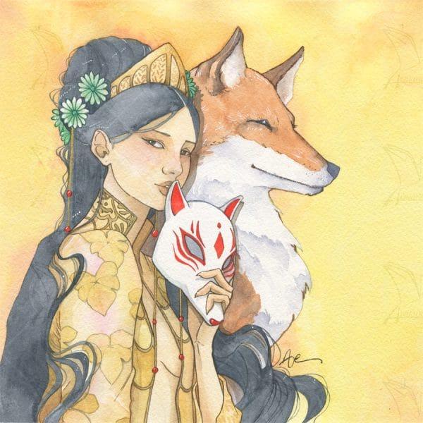 Kitsune-femme-renard-esprit-mythologie-japonaise