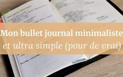 Mon bullet journal minimaliste