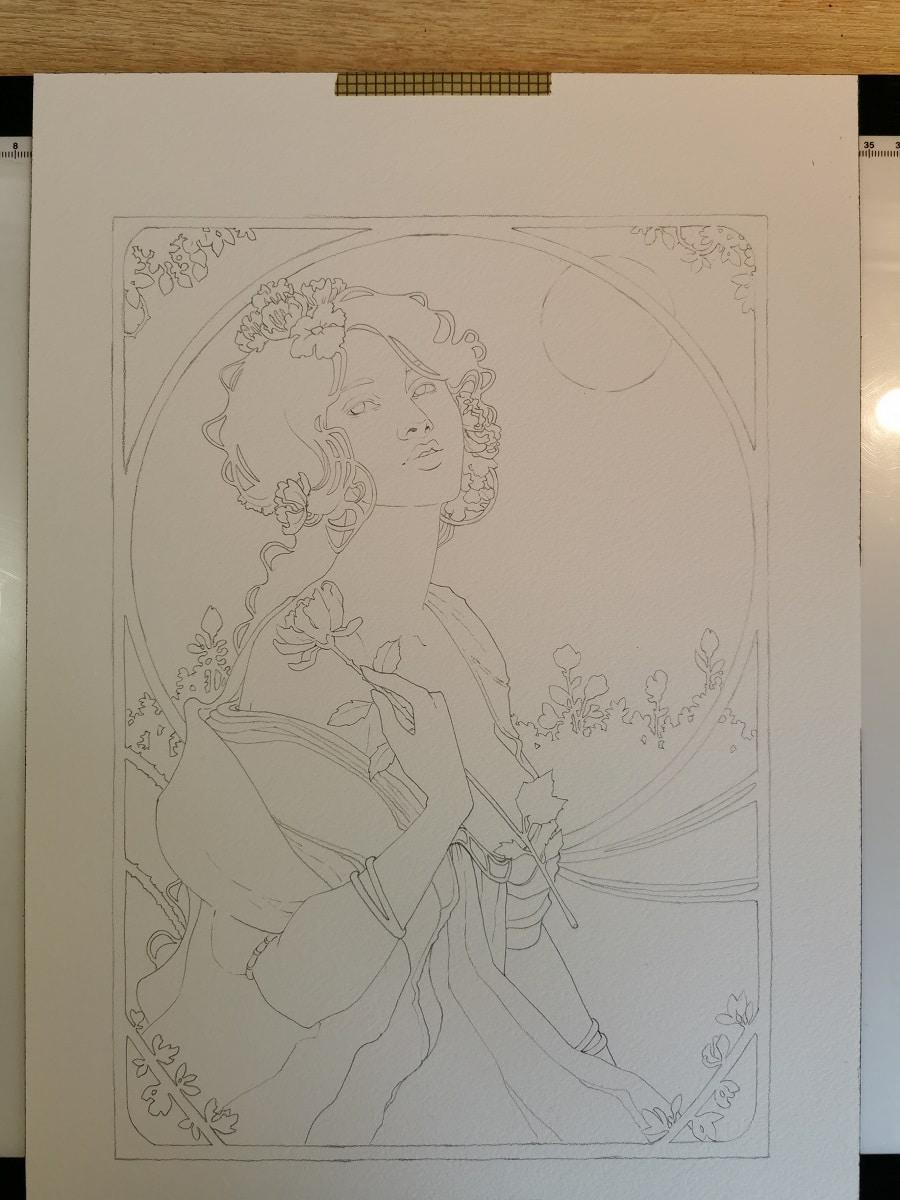 Une fleur à la main - carte postale originale - Patreon