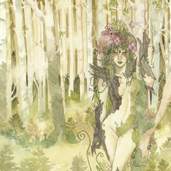 La forêt enchantée - aquarelle originale - Aemarielle