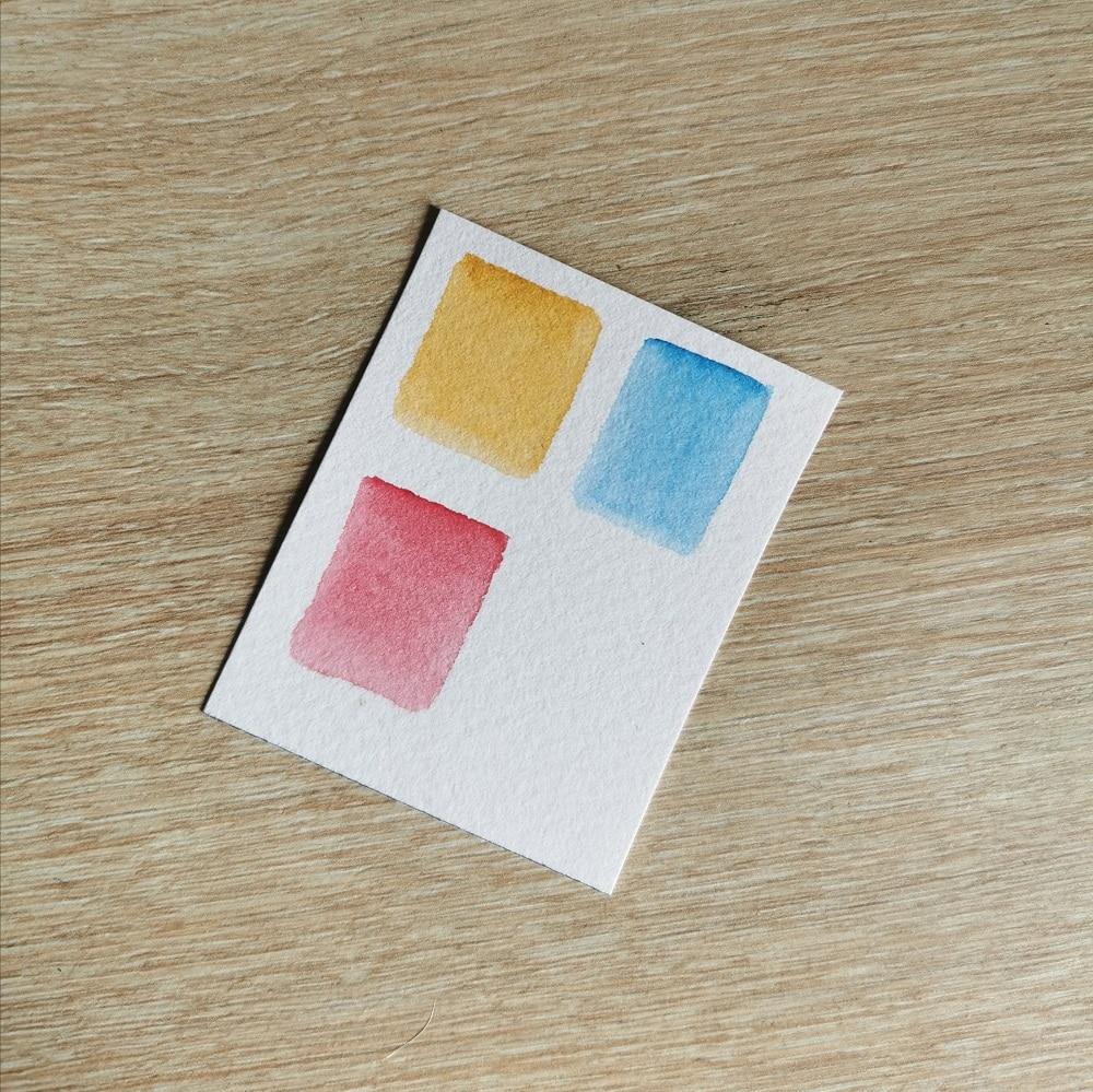 Peindre la peau à l'aquarelle - 3 couleurs - peau claire