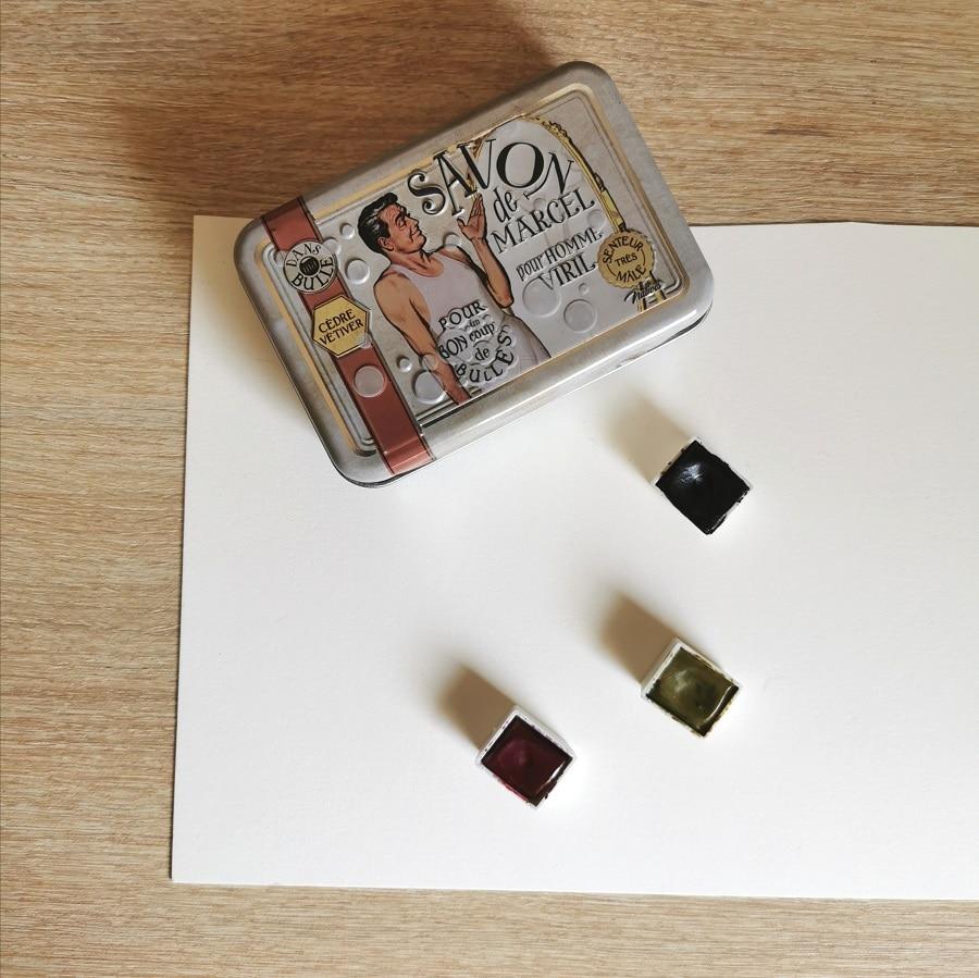 Ma petite boite d'aquarelle - palette de couleurs nature