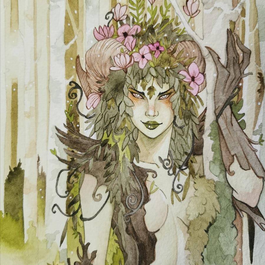 Portrait de la dryade - Aemarielle