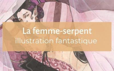 Illustration fantastique | La femme-serpent