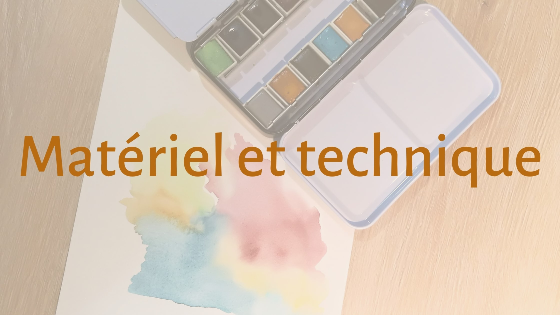 Matériel et technique - catégorie blog