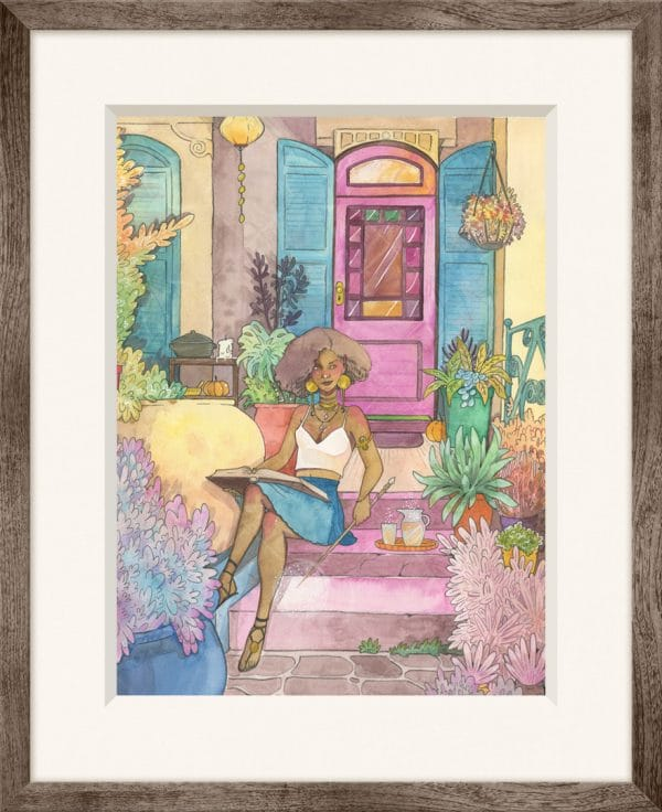 Idée cadeau - aquarelle originale La maison de la sorcière - Aemarielle