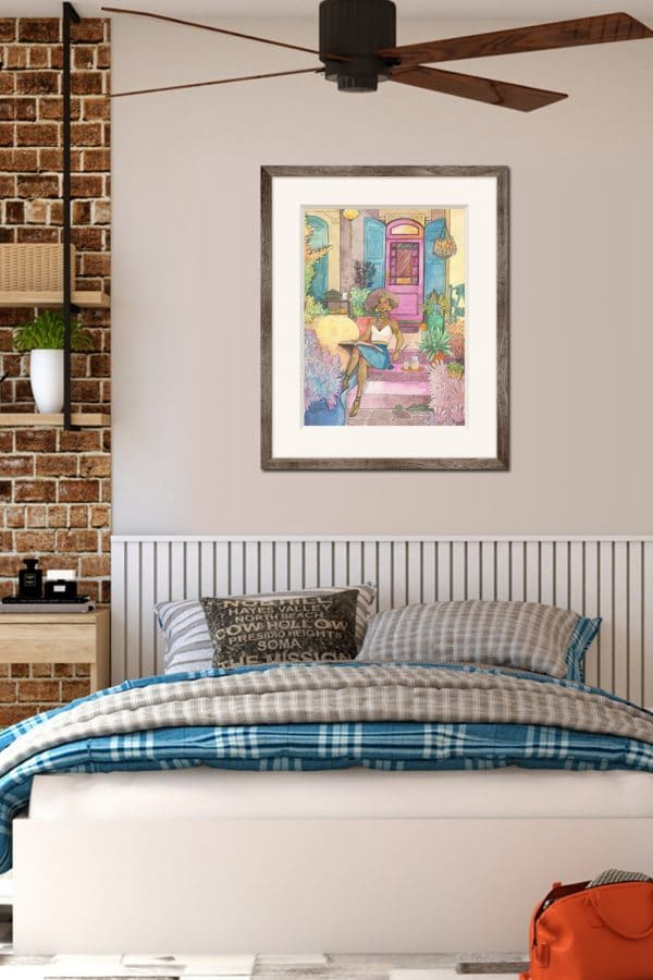 Idée déco chambre - aquarelle - maison de la sorcière - Aemarielle