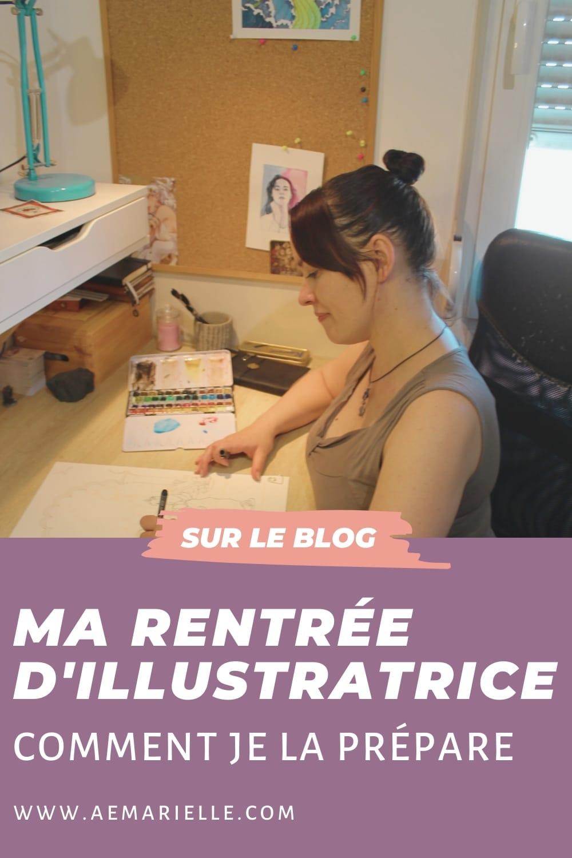 Ma rentrée d'illustratrice - comment je la prépare