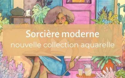Sorcière moderne   une collection d'aquarelles urbaines et magiques