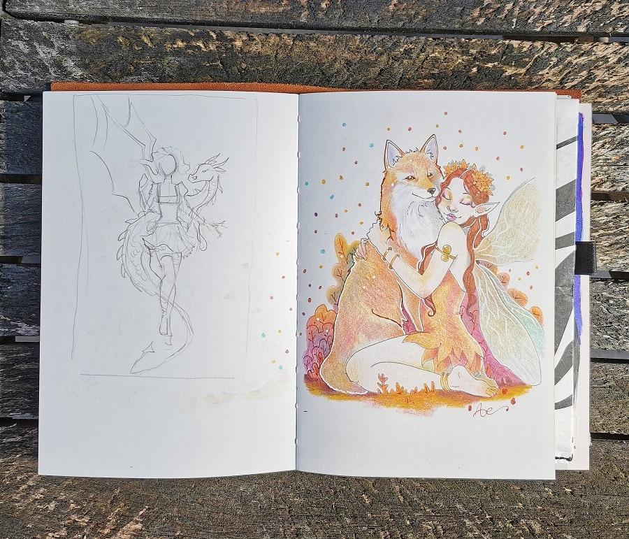 Page de carnet à dessin brouillon