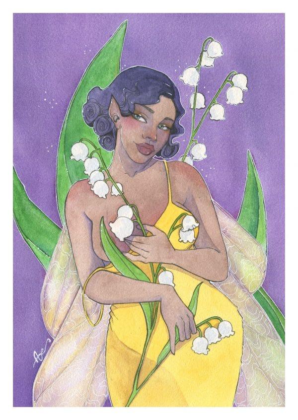 La fée du muguet - carte postale A6