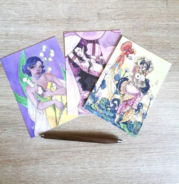 Pack de cartes postales - créatures de rêve