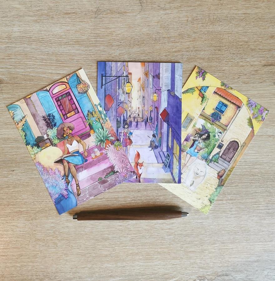 Pack de 3 cartes postales A6 - Les sorcières modernes
