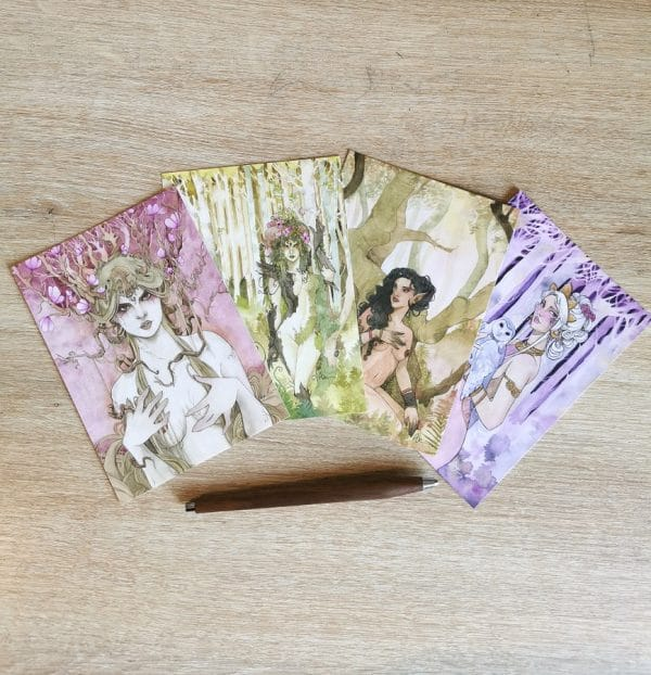 Pack cartes postales A6 - fantasy sylvestre