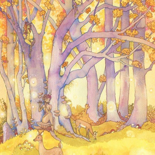 Aquarelle fantasy - L'arbre aux esprits - Aemarielle